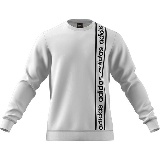 Adidas Sweatshirt C90 CREW Weiß/Schwarz