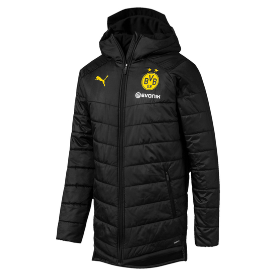 Puma Borussia Dortmund Bench Winterjacke Schwarz