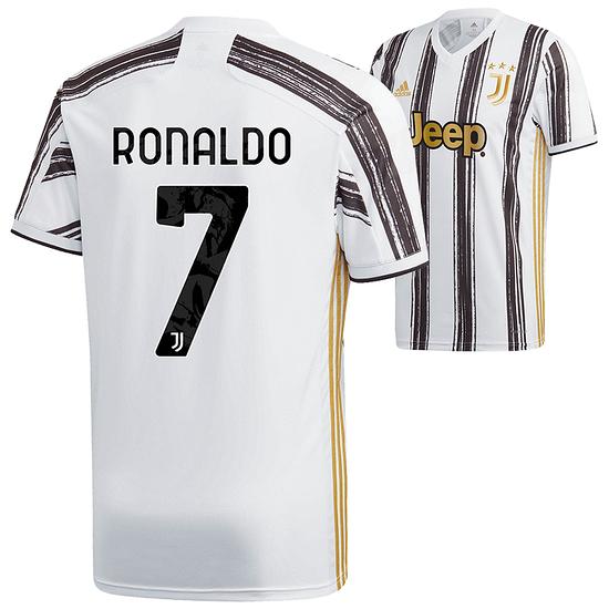 Adidas Juventus Turin Trikot RONALDO 2020/2021 Heim Kinder