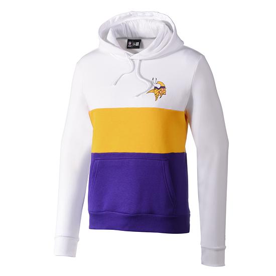 New Era Minnesota Vikings Hoodie Colourblock weiß/gelb/lila