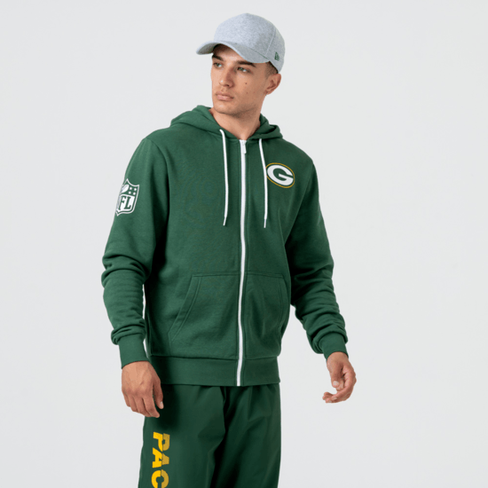 New Era Green Bay Packers Kapuzenjacke Large Graphic grün