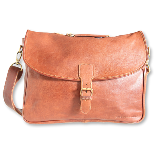The Pearsons Home Laptop Tasche Mick cognac