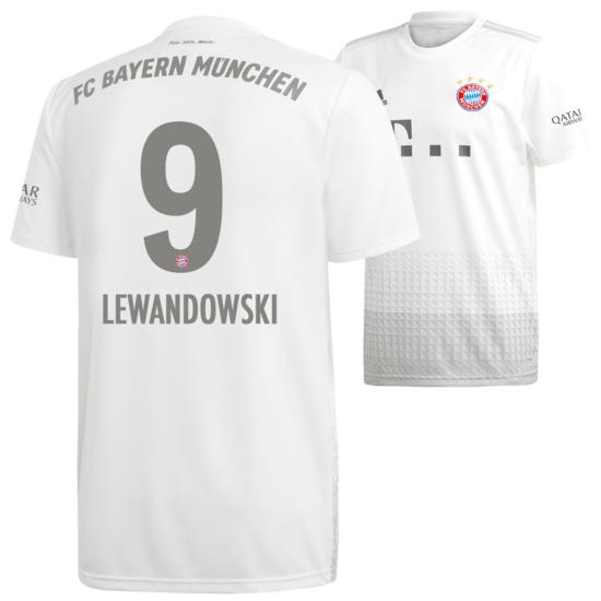Adidas FC Bayern München Auswärts Trikot LEWANDOWSKI 19/20 Kids