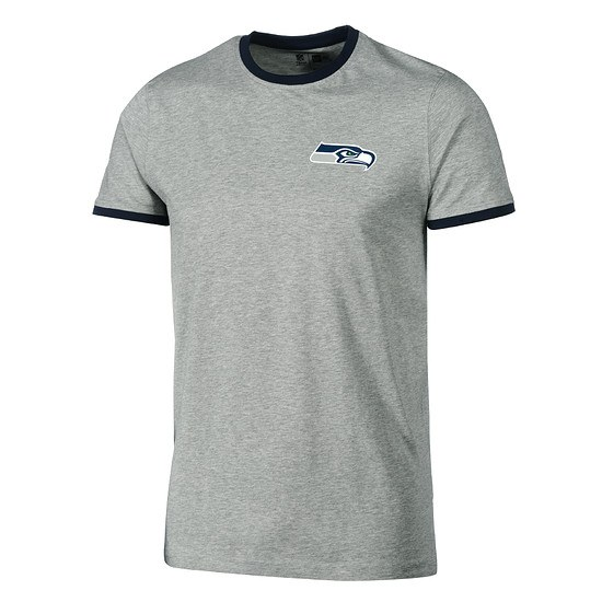 New Era Seattle Seahawks T-Shirt Ringer hellgrau