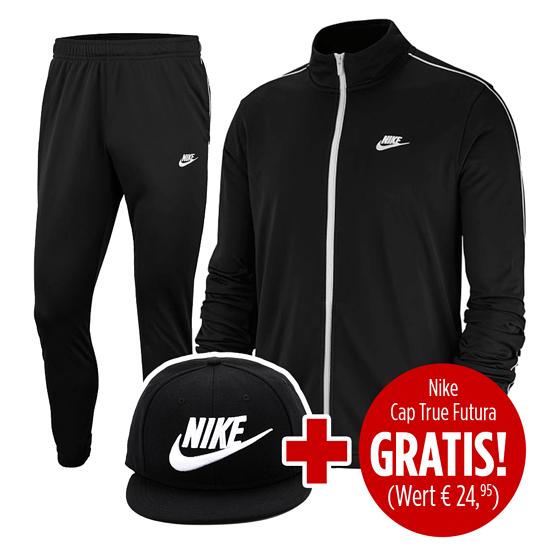 Nike Trainingsanzug Sportswear UNI mit Cap True Futura 2er Set schwarz
