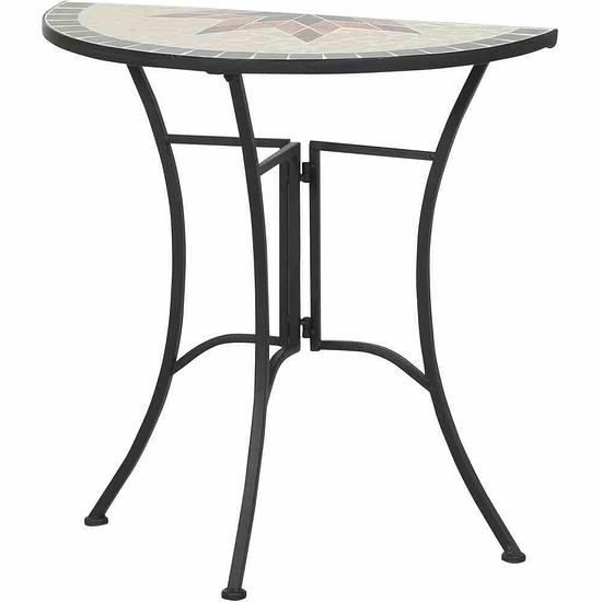 Siena Garden Tisch Stella 35,5x70x71 cm schwarz