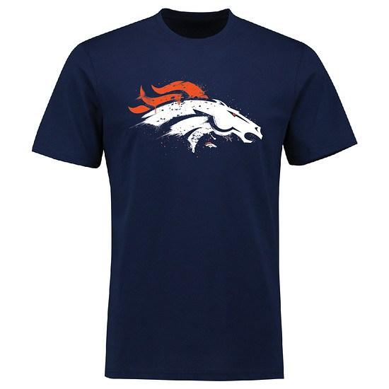 Majestic Athletic Denver Broncos T-Shirt Splatter navy