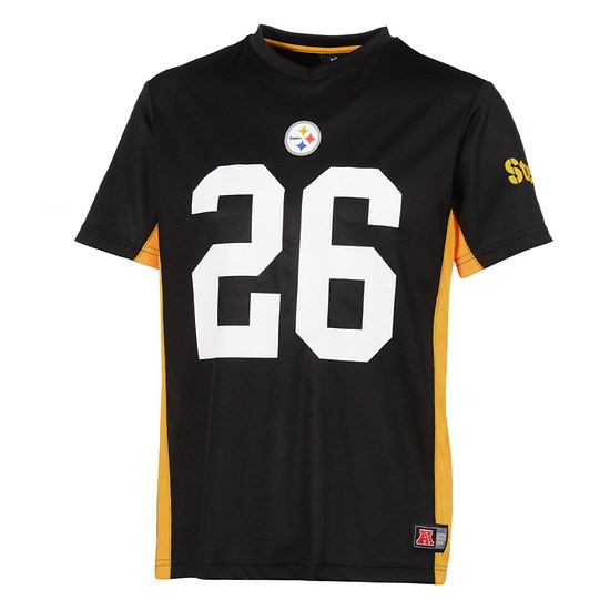 Majestic Athletic Pittsburgh Steelers T-Shirt Plamoro Poly Bell No 26 schwarz
