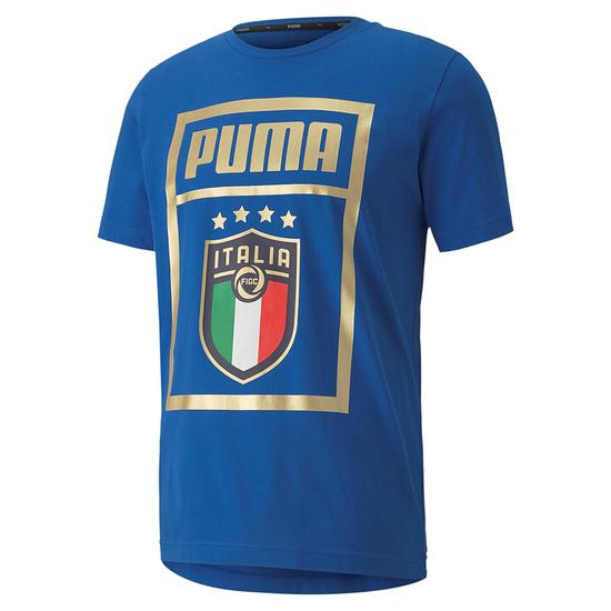Puma Italien T-Shirt EM 2021 Blau