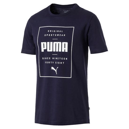 Puma T-Shirt Box Blau