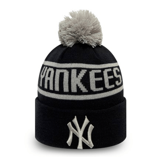 New Era New York Yankees Beanie Bobble Knit schwarz/grau