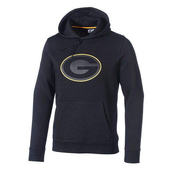 New Era Green Bay Packers Hoodie Fan Pack schwarz