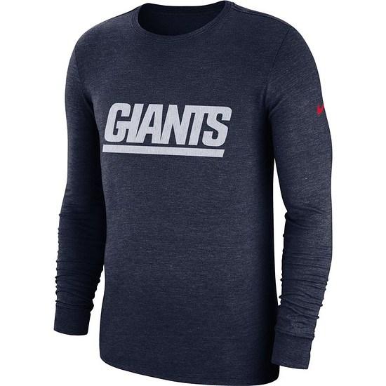 Nike New York Giants Langarm Shirt HISTORIC Blau