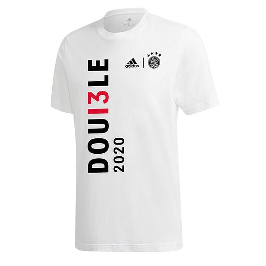 Adidas FC Bayern München T-Shirt Double Sieger 2020 Kinder Weiß