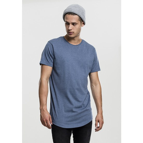 URBAN CLASSICS T-Shirt Shaped Melange Long blau