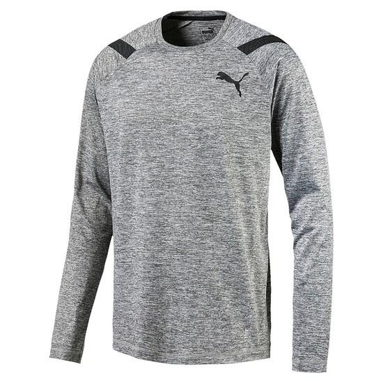 Puma Langarm Shirt Bonded Grau