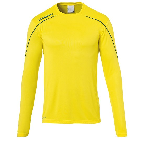 uhlsport Trainingsshirt Langarm Stream 22 gelb/blau