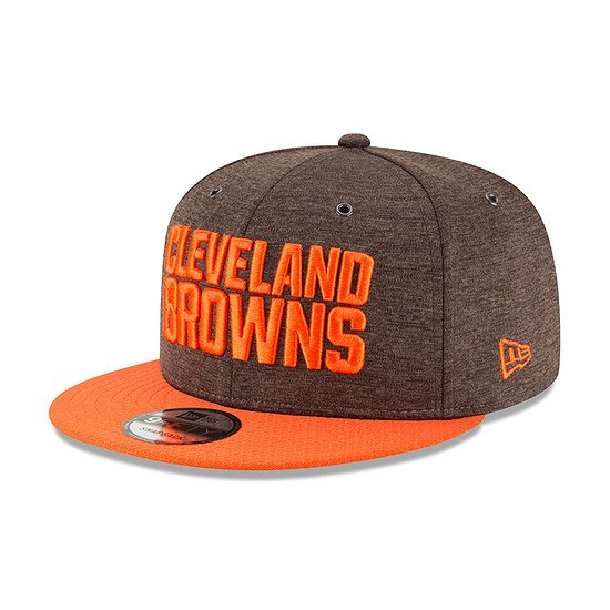 New Era Cleveland Browns Cap 9FIFTY Sideline 2018 rot