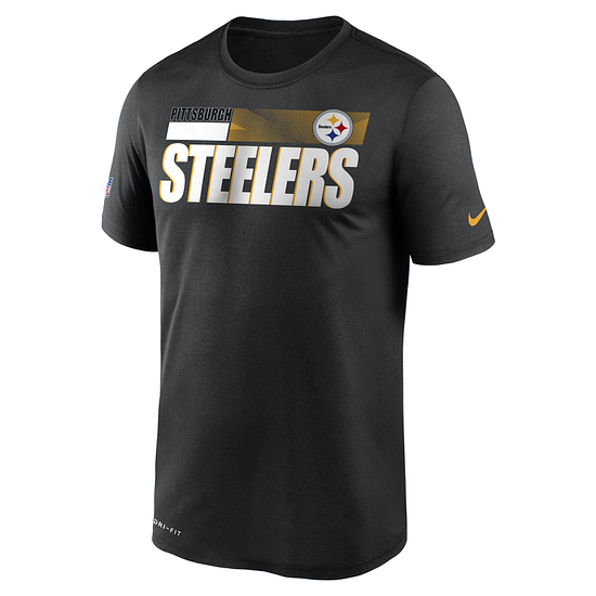 Nike Pittsburgh Steelers T-Shirt Team Name Sideline schwarz