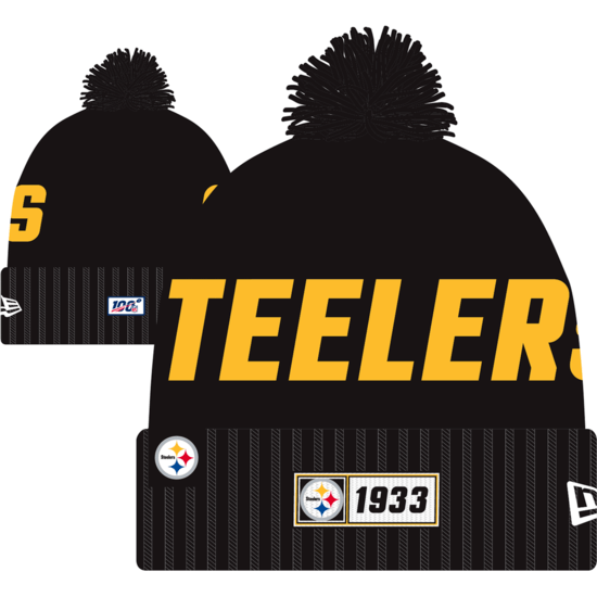 New Era Pittsburgh Steelers Beanie On Field Sport Knit RD schwarz