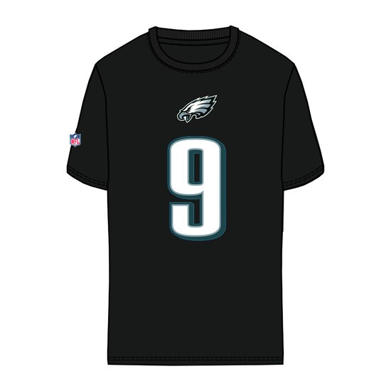 Majestic Athletic Philadelphia Eagles T-Shirt Foles No 9 Eligible Receiver schwarz