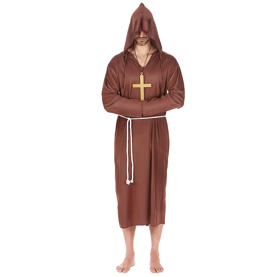 Karnevals- Kostüm Mönch Priester braun
