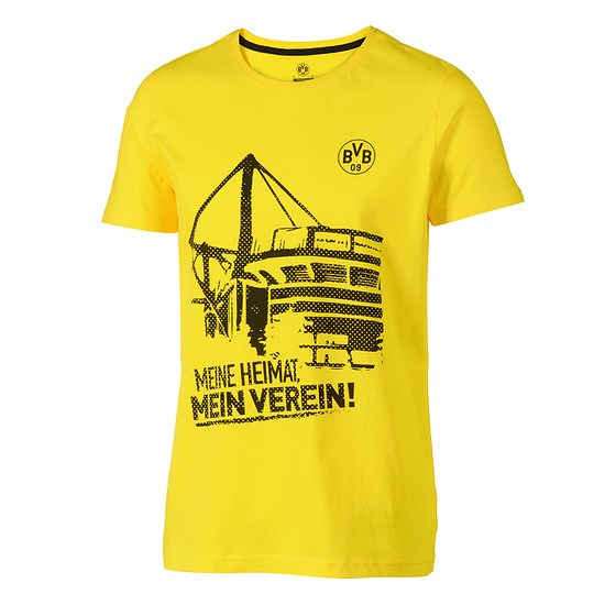 Borussia Dortmund BVB T-Shirt MEINE HEIMAT Gelb