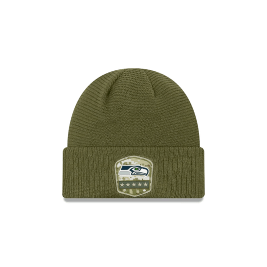 New Era Seattle Seahawks Beanie Salute To Service oliv