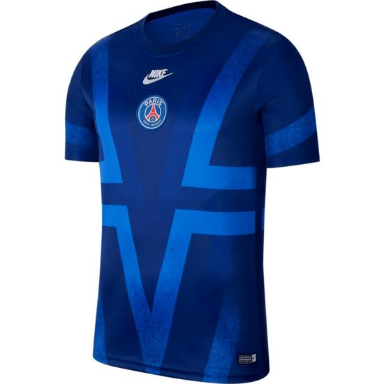 Nike Paris Saint-Germain Prematch T-Shirt Blau