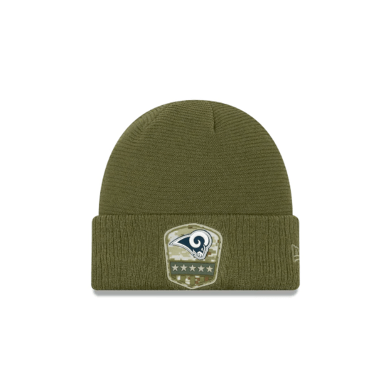 New Era Los Angeles Rams Beanie Salute To Service 2019 oliv