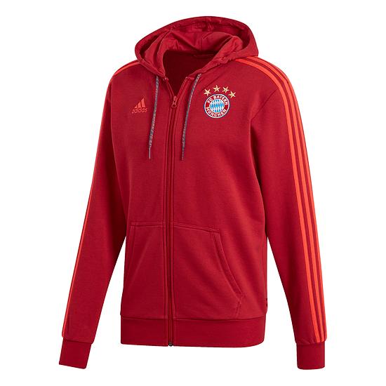 Adidas FC Bayern München 3S Kapuzenjacke 2019/2020 Rot