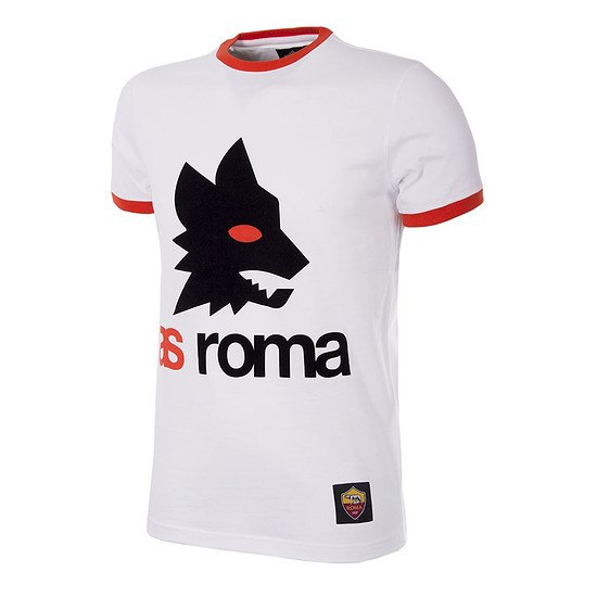 Copa AS Rom T-Shirt Retro Logo weiß