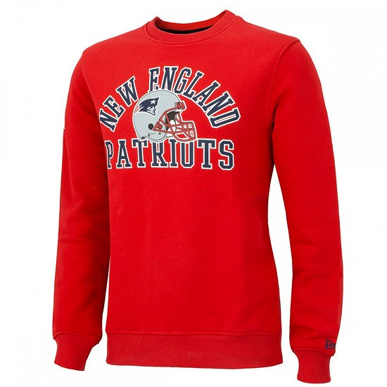 New Era New England Patriots Sweatshirt College Crew rot