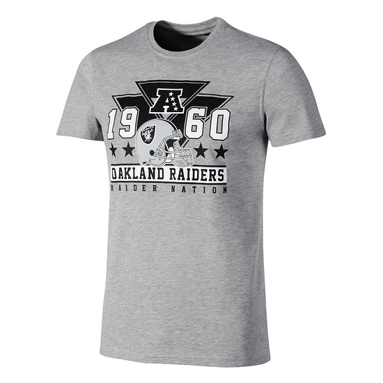 New Era Oakland Raiders T-Shirt Triangle Classic grau