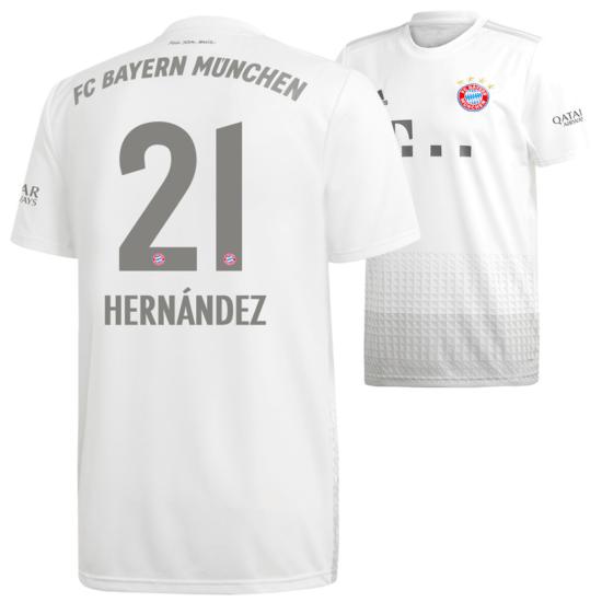 Adidas FC Bayern München Auswärts Trikot HERNÁNDEZ 2019/2020 Kids