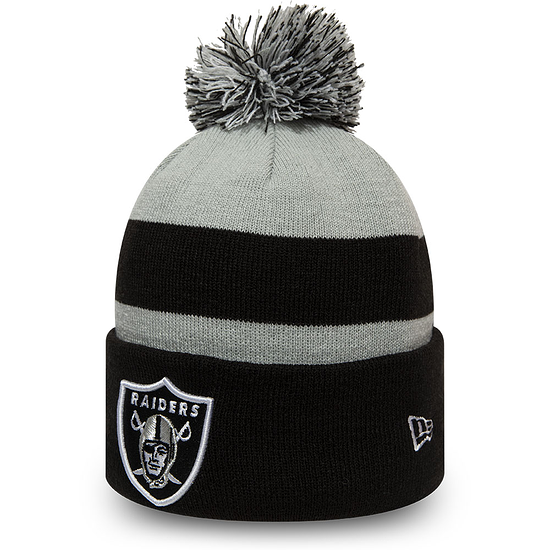 New Era Las Vegas Raiders Beanie Striped Cuff Knit schwarz