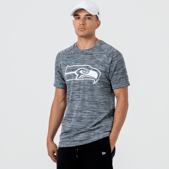 New Era Seattle Seahawks T-Shirt Engineered Raglan grau