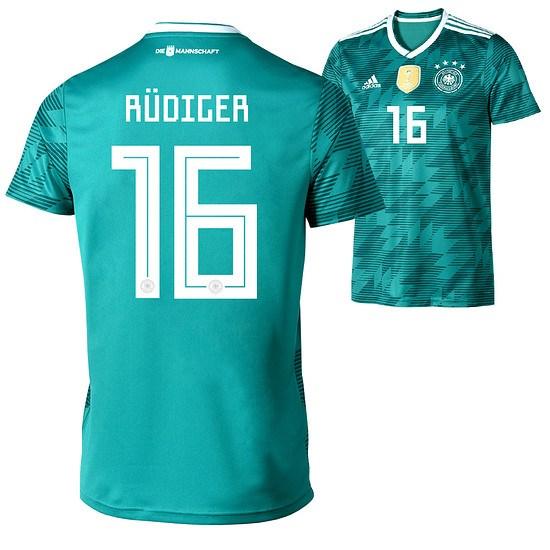 Adidas Deutschland WM 2018 DFB Trikot Auswärts RÜDIGER