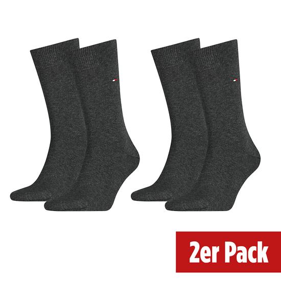 Tommy Hilfiger Socken 2er Pack ICONIC CLASSIC Dunkelgrau