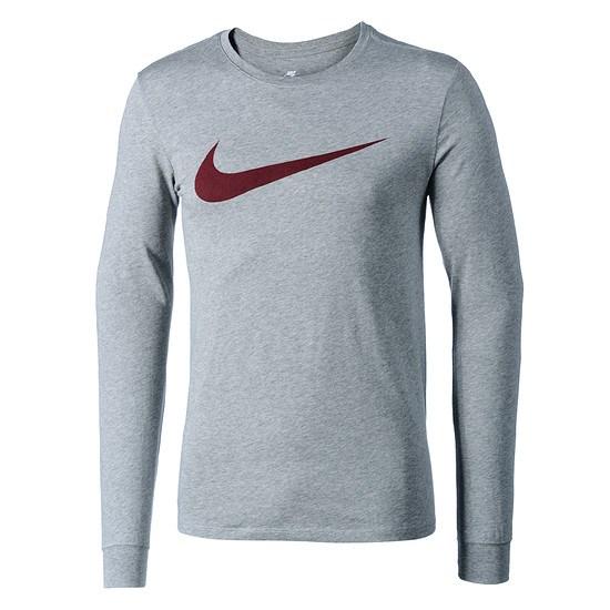 Nike Longsleeve Icon Swoosh Dunkelgrau/Rot