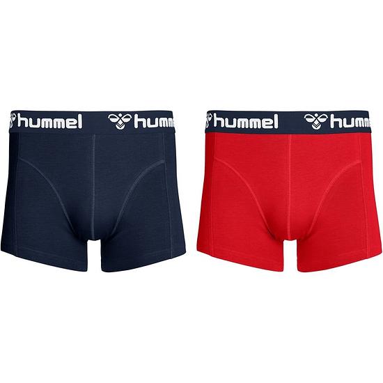 hummel Boxershorts HMLMARS 2er Pack rot/dunkelblau