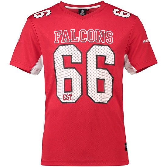 Majestic Athletic Atlanta Falcons T-Shirt Moro Poly Mesh rot