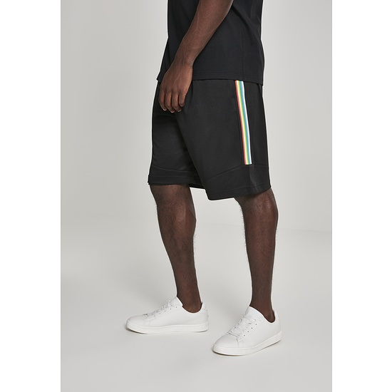 URBAN CLASSICS Shorts Side Taped Mesh schwarz/bunt
