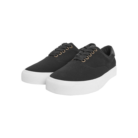 URBAN CLASSICS Sneaker Low with Laces schwarz/weiß