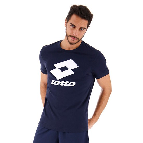 Lotto T-Shirt Smart Logo blau/weiß