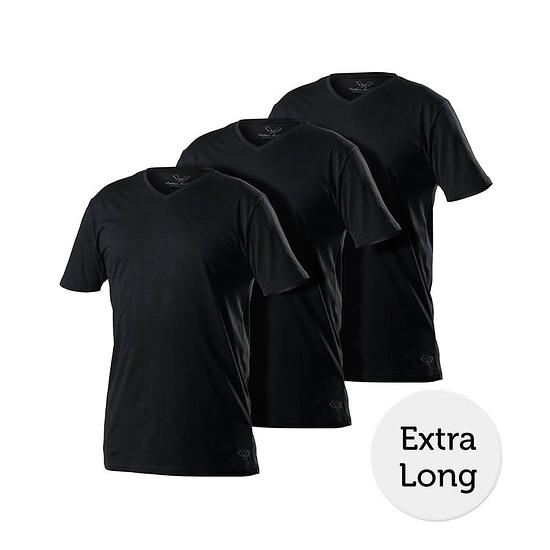 Cotton Butcher T-Shirt 3er Pack V-Neck schwarz