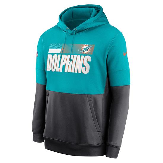 Nike Miami Dolphins Hoodie Team Lockup Therma türkis/grau