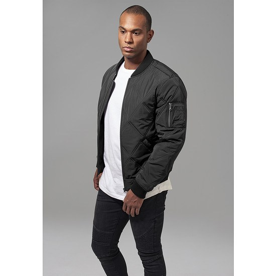 huge discount 2e3b6 8ceff URBAN CLASSICS Bomberjacke Big Diamond Quilt