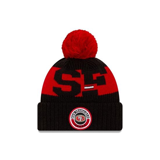 New Era San Francisco 49ers Beanie On Field Sport Knit rot