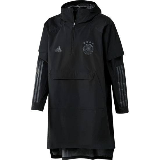 Adidas Deutschland DFB Regenjacke Poncho EM 2021 Schwarz